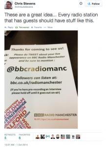 BBCMancGuestsTweeting