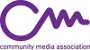 logo for the community media association